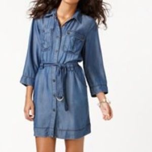 Rachel Roy Denim ShirtDress w/belted Waist